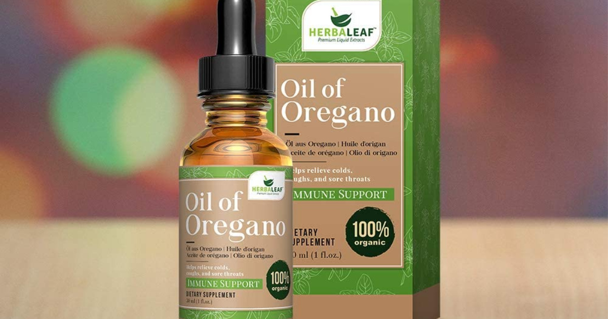 Herbaleaf Oil of Oregano Drops Only $8 on Amazon