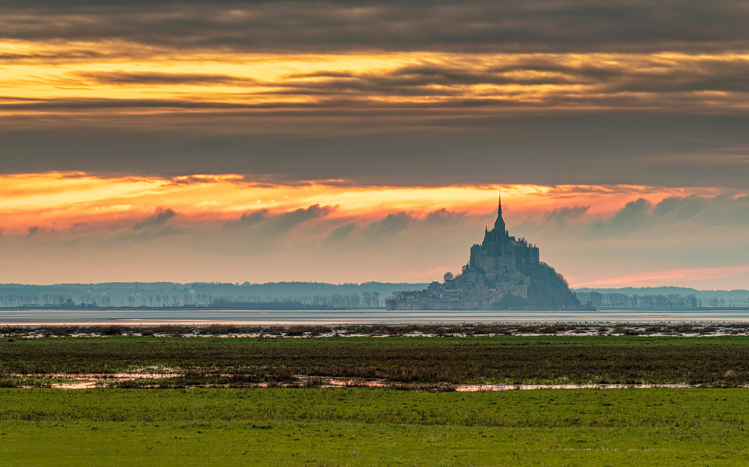 Le Mont St Michel, Normandy, France by Jerome Colombo
