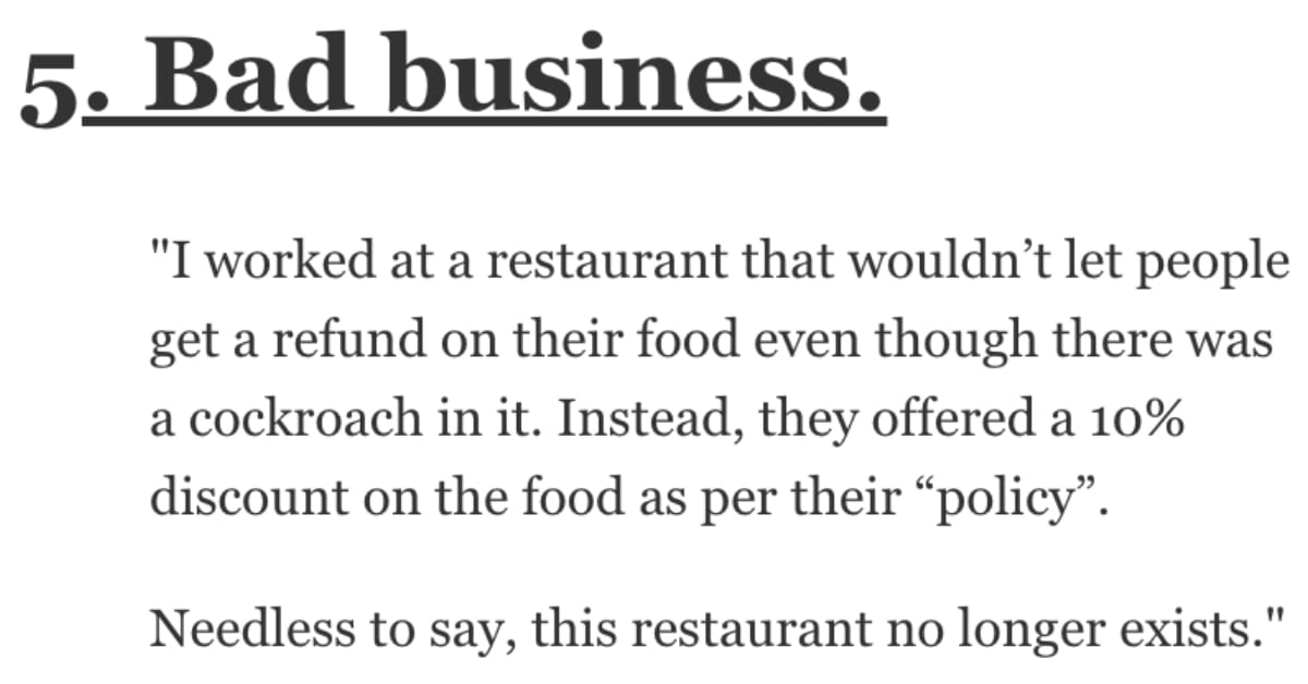 What Are the Worst Business Practices You've Ever Seen? Here's What People Said.