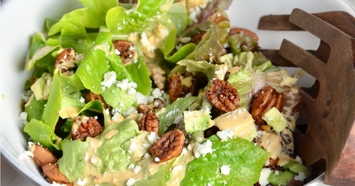 Sweet and Spicy Salad with Chipotle Ranch