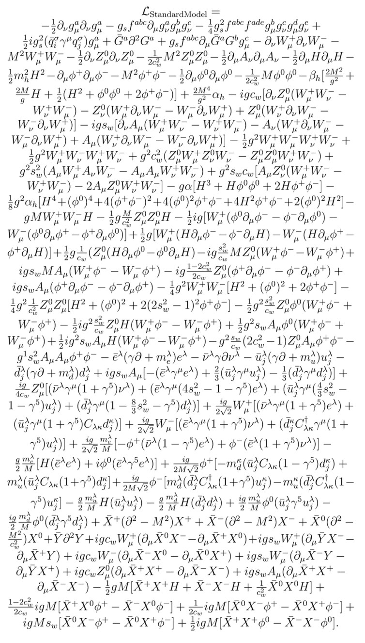 Q: What is the most complicated equation?