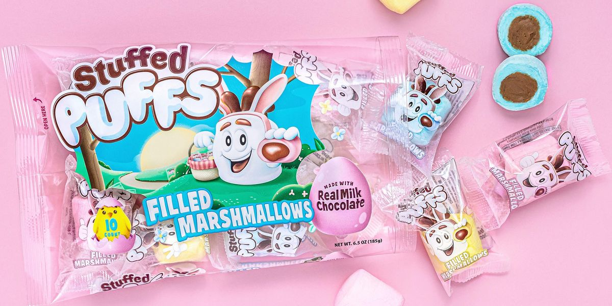 Stuffed Puffs Has New Pastel Chocolate-Filled Marshmallows For Easter-Worthy S'mores