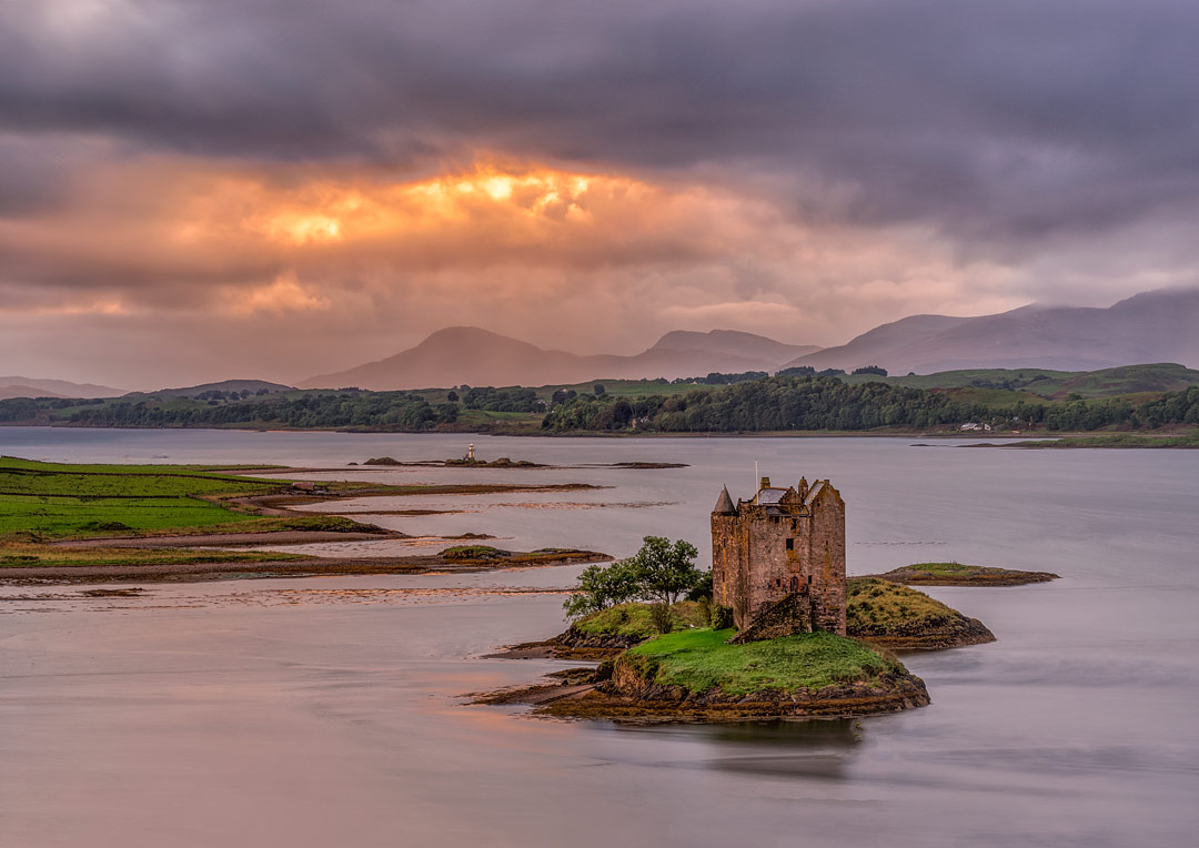 Castle Stalker, Argyll, Scotland by Jacques Geoffroy
