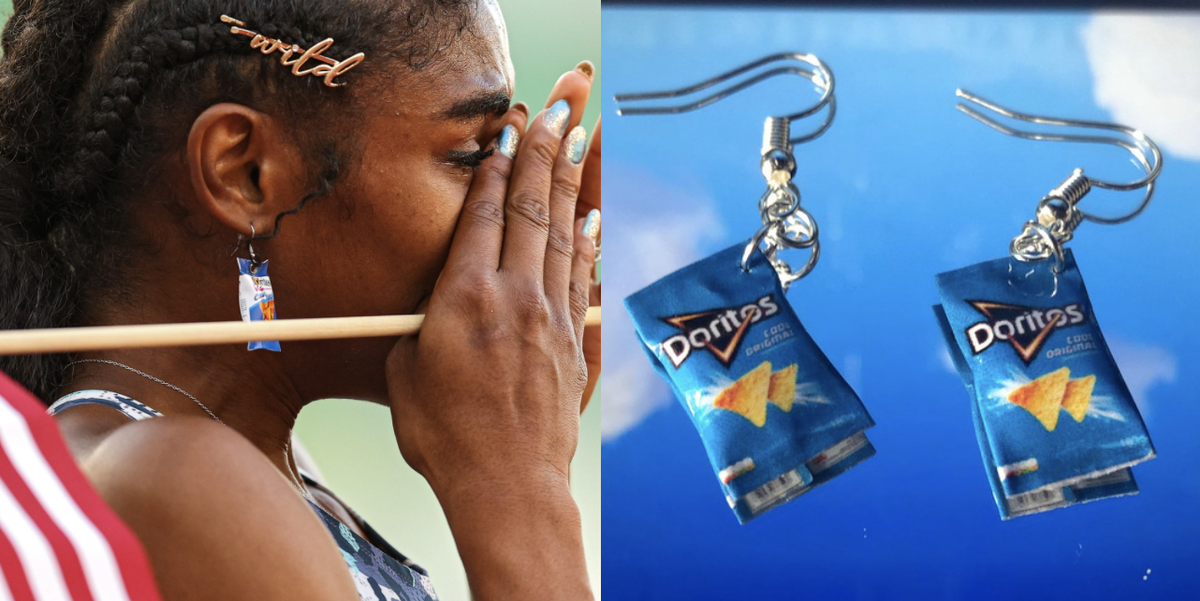 Why This Athlete Wore Doritos Earrings During The Olympic Qualifiers
