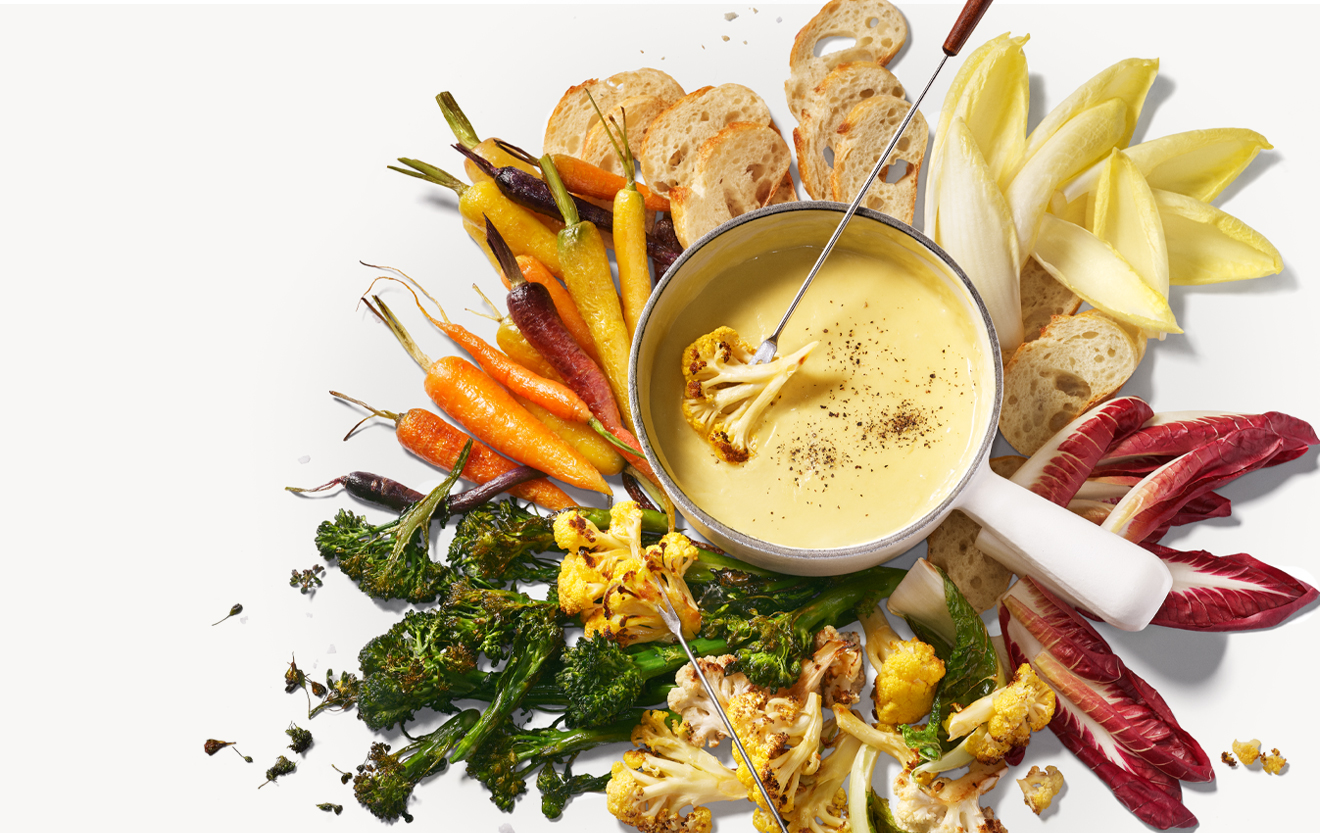 Recipe: Beer-Cheese Fondue with Roasted Veggie Platter