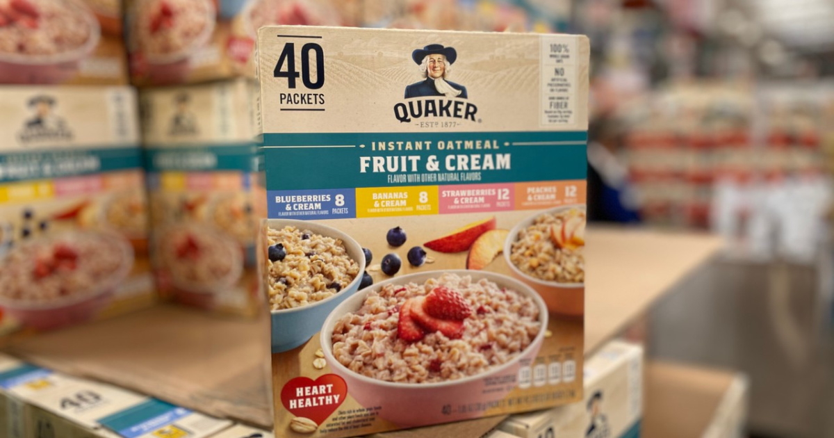 Quaker Instant Oatmeal Fruit & Cream 40-Count Variety Pack Just $5.59 at Costco