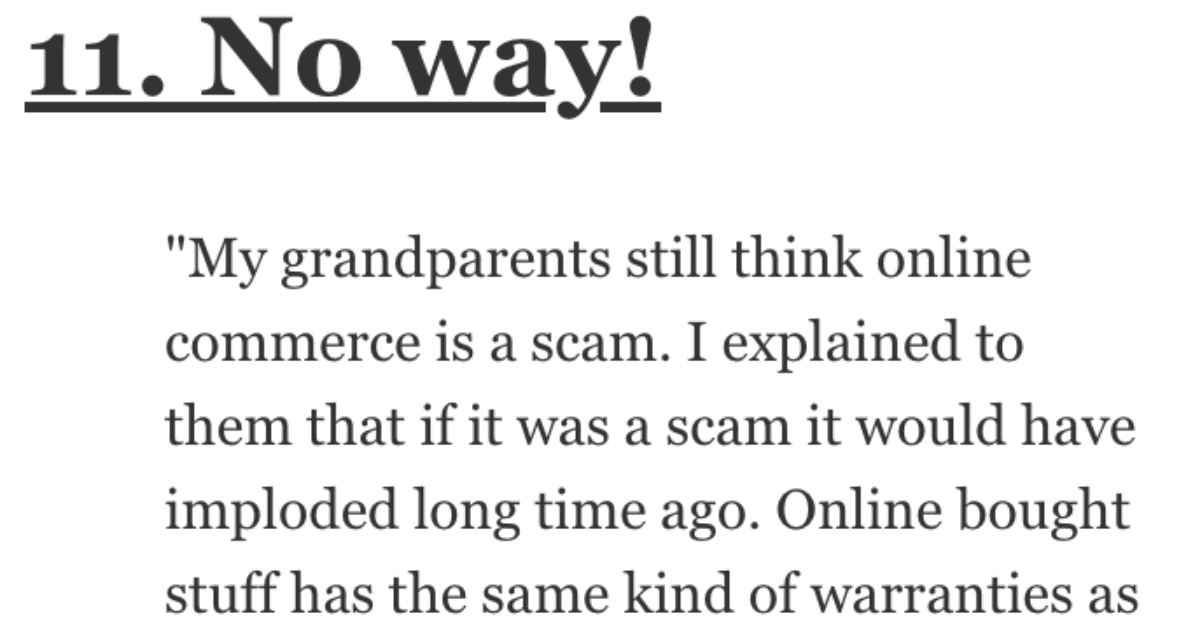 What Do People Think Is a Scam Because They Don't Understand It? Here's How Folks Responded.