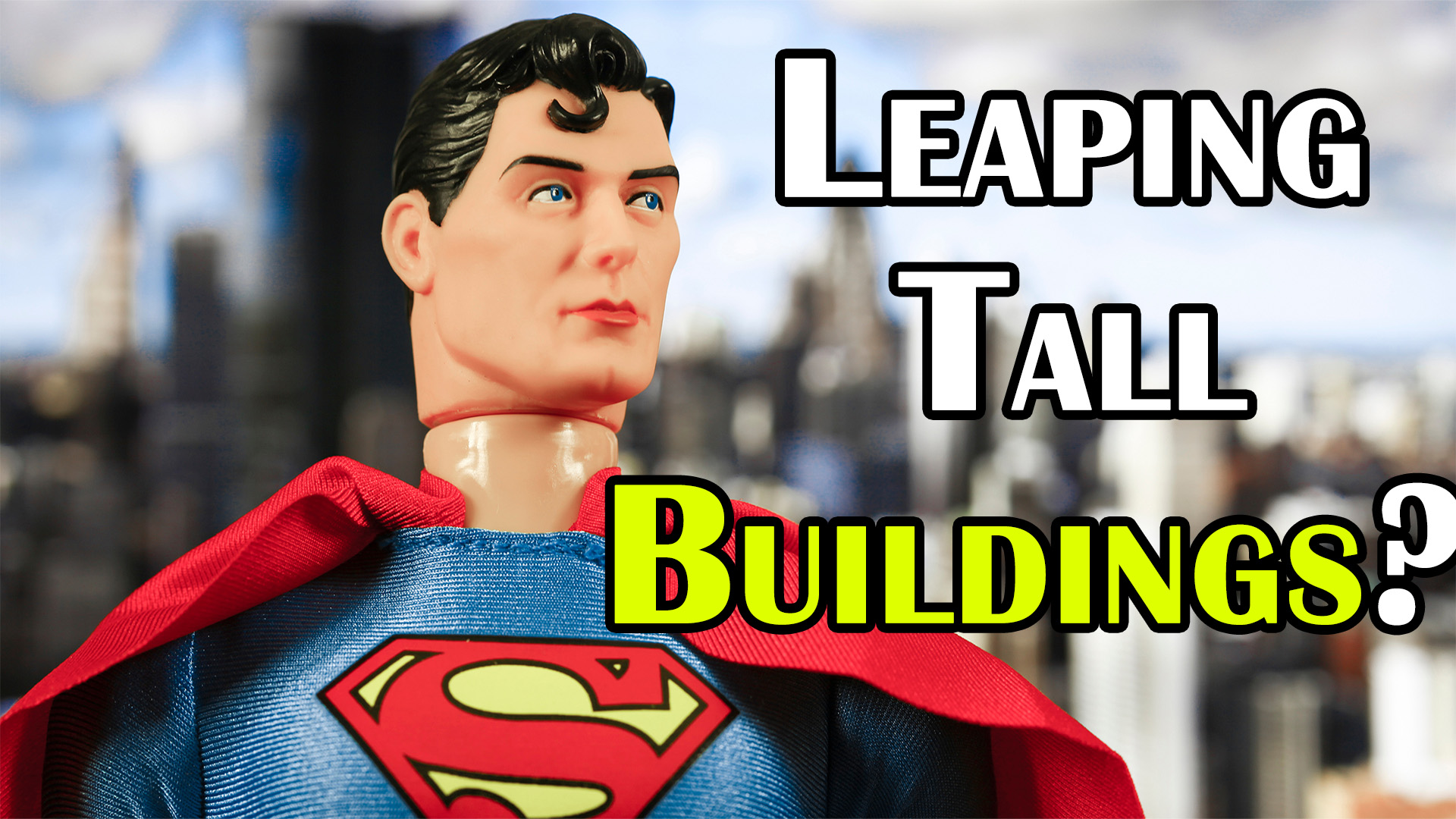 Why is Superman Described as Leaping Tall Buildings with a Single Bound When He Can Fly?
