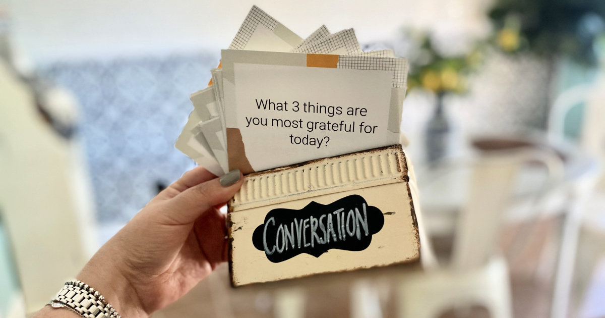 Free Printable Conversation Starter Cards for the Family