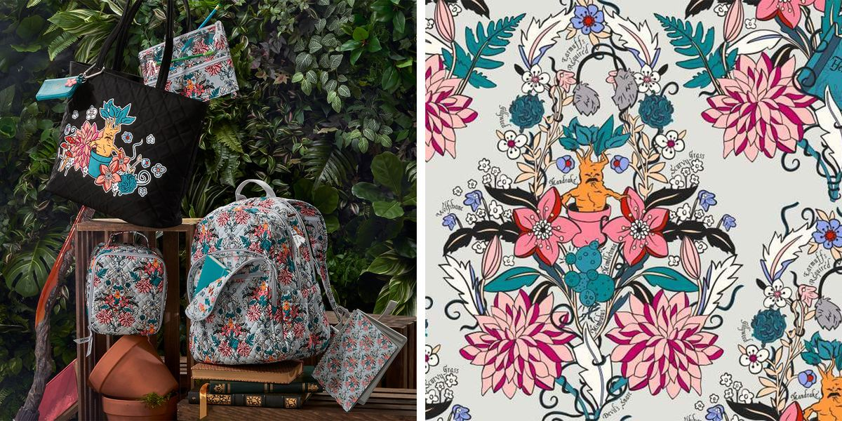 Vera Bradley Has A New 'Harry Potter' Pattern That's Inspired By Hogwarts' Herbology Class