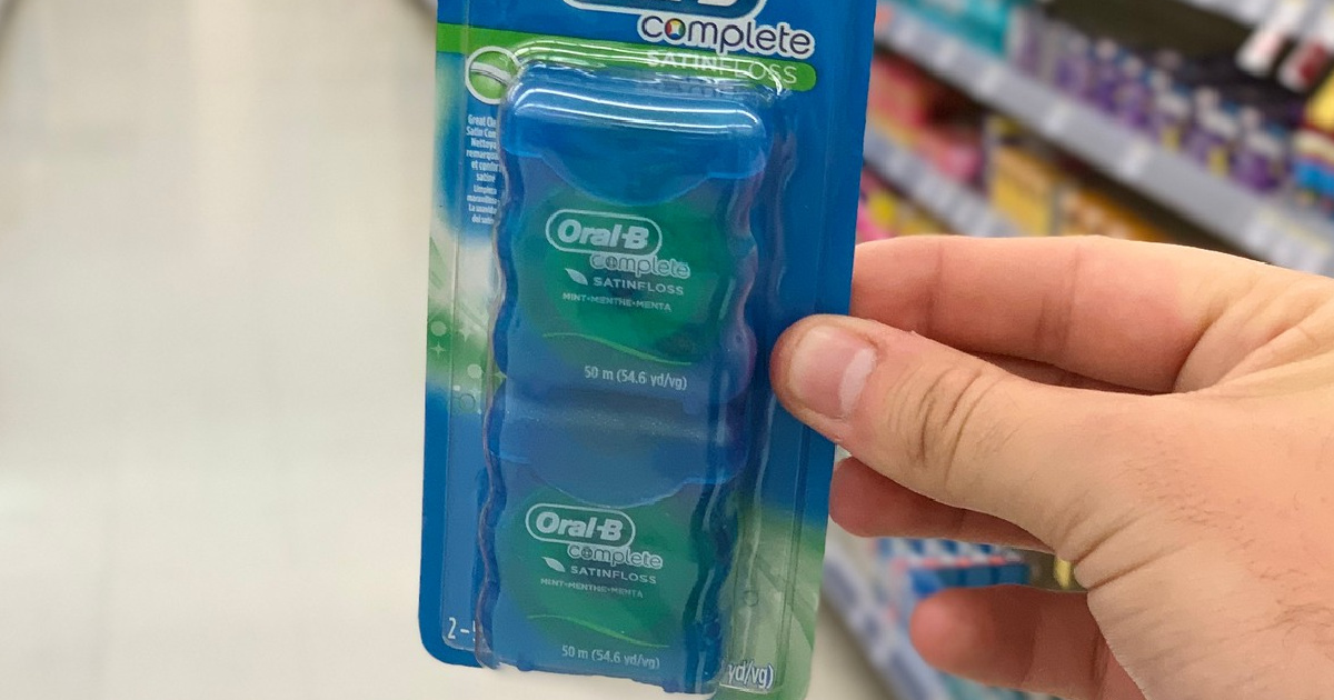 Oral-B Dental Floss 2-Pack Only $2 Shipped on Amazon | Only $1 Each