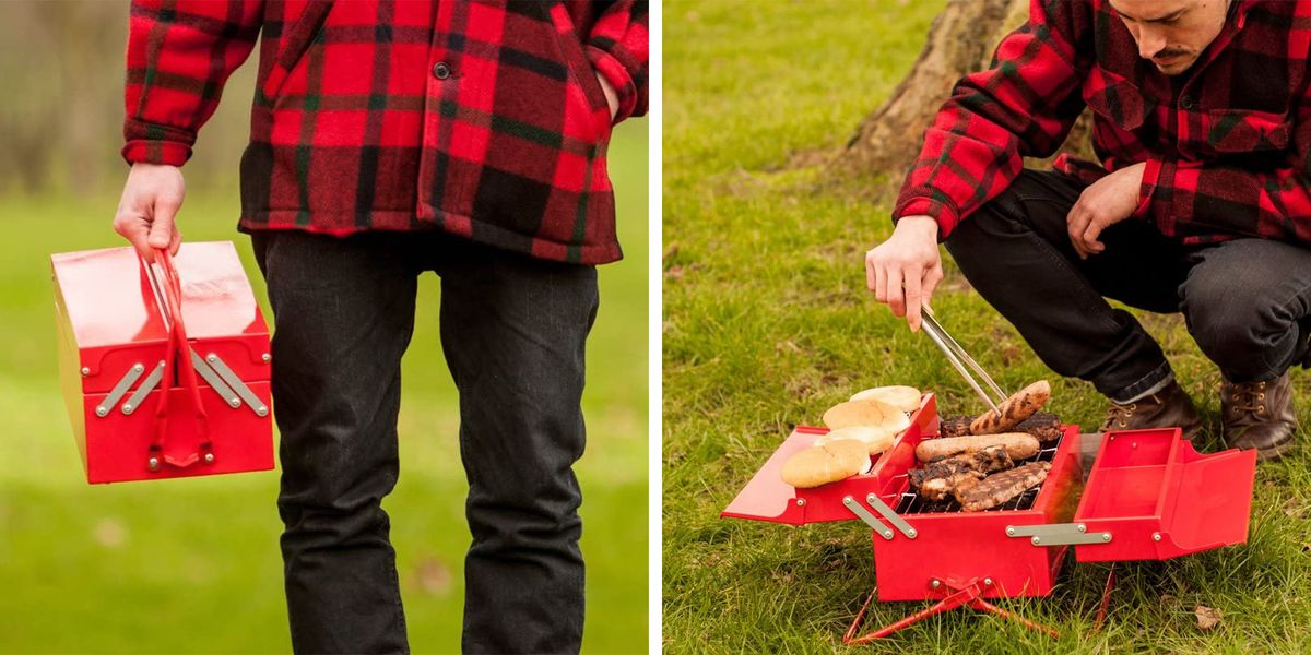 This Portable Grill Looks Like A Toolbox, So It Packs Up Small To Cook Just About Anywhere