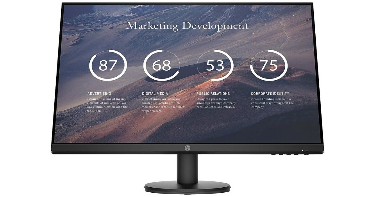 "HP 27"" LED Monitor Only $104.99 Shipped on Staples.com (Regularly $150)"