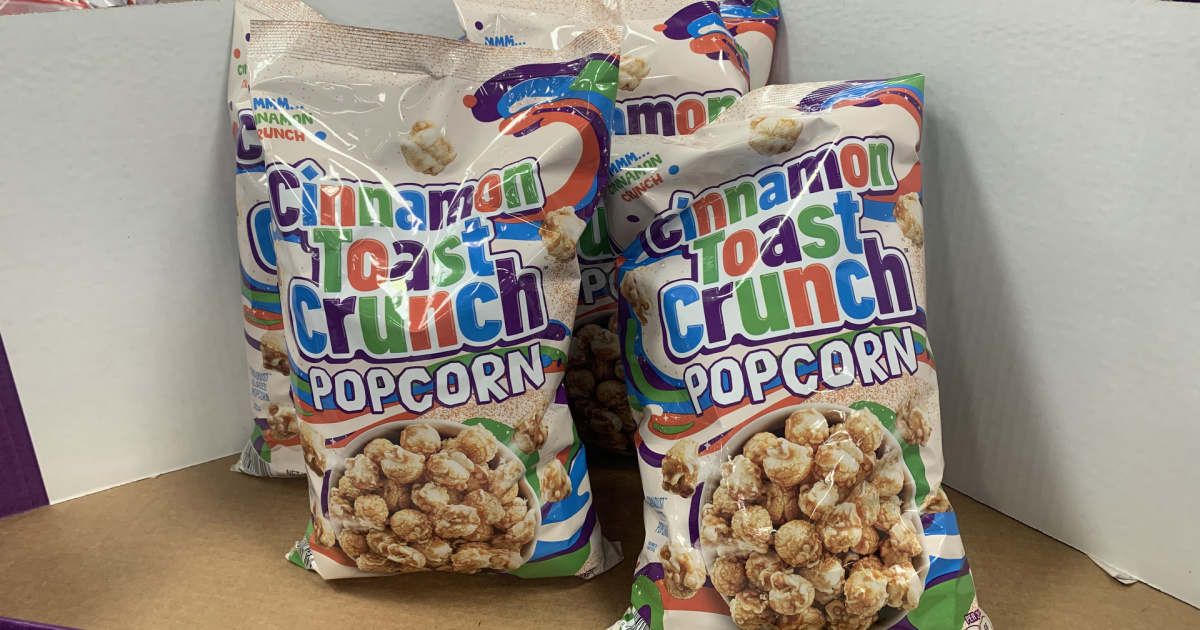 Snack on Your Favorite Cereal in a New Way w/ Cinnamon Toast Crunch Popcorn
