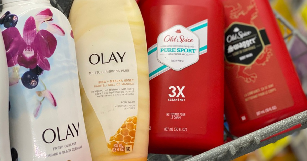 6 Olay & Old Spice Body Washes Just $4 After Rebate & Walgreens Rewards