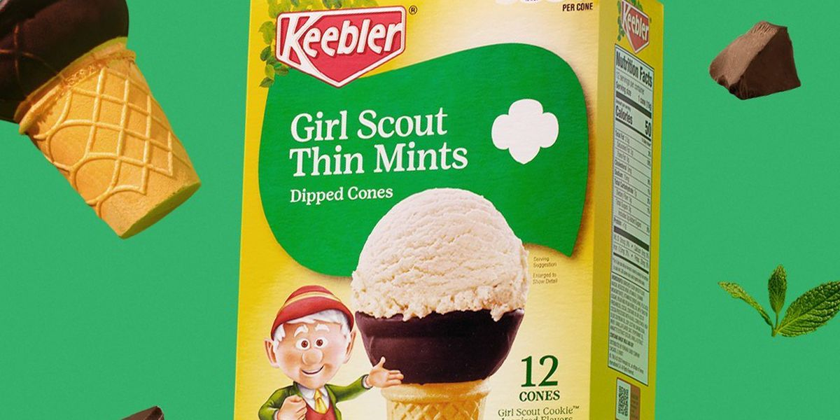 You Can Now Get Girl Scouts Thin Mints Cookie-Inspired Ice Cream Cones