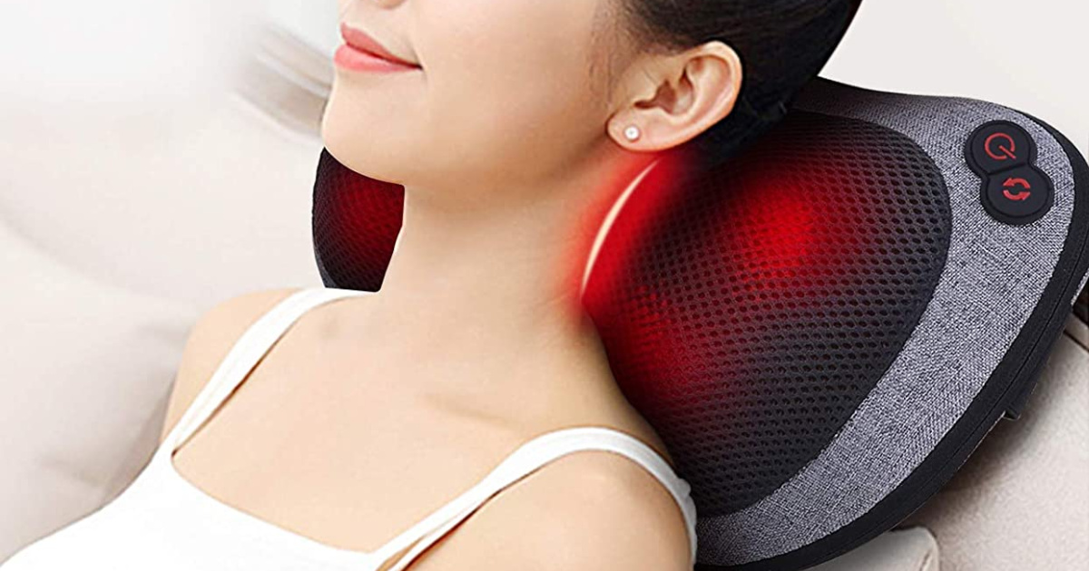 Portable Neck Massager Pillow w/ Heat Only $31.99 Shipped on Amazon