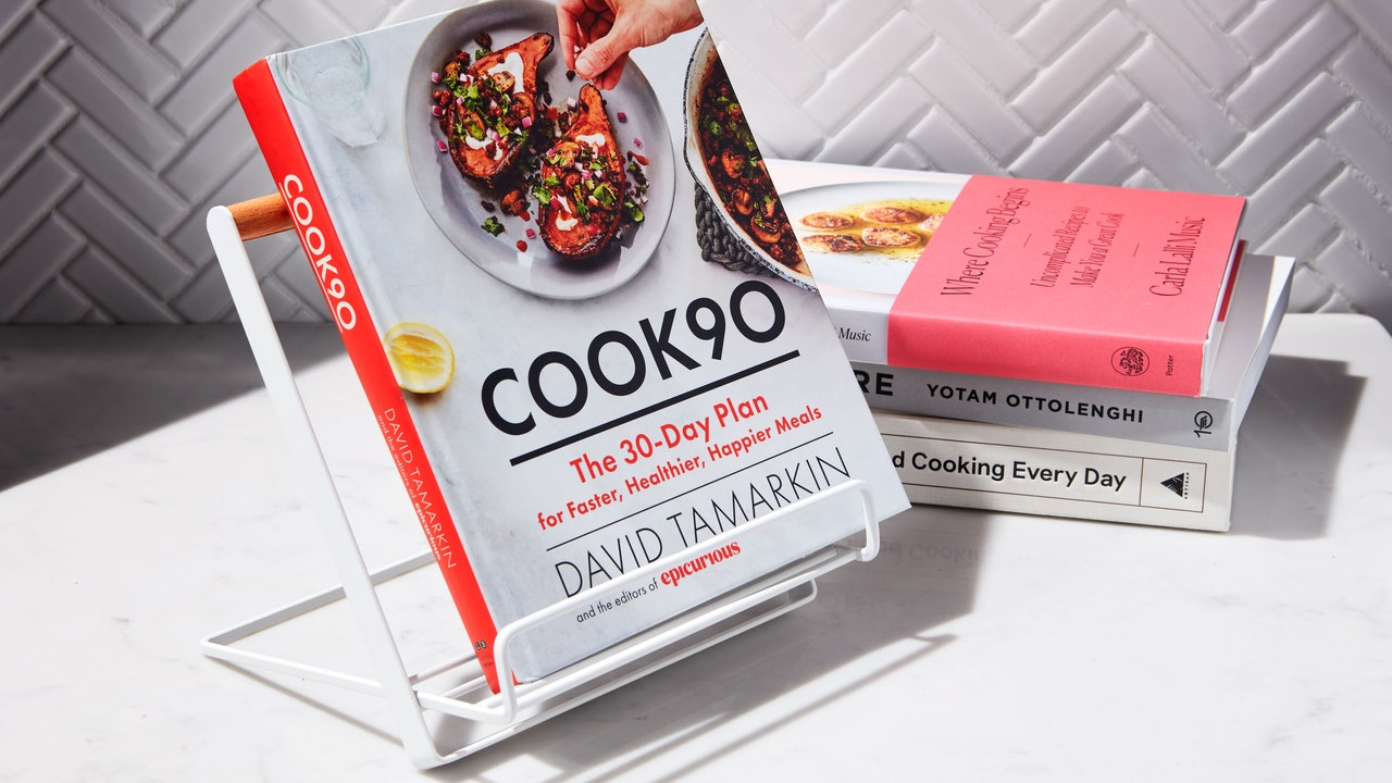 A Cookbook Stand Makes Dinner Easy (and Saves Your Phone Screen From Smudges)