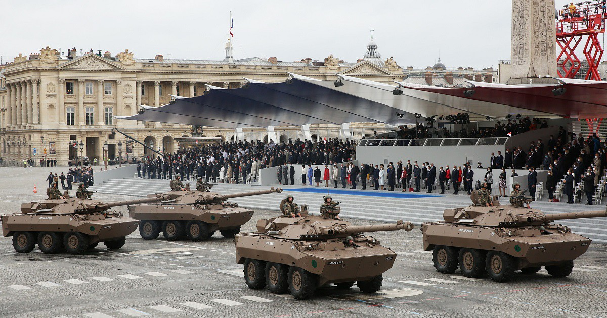 Tanks in Paris were almost certainly there for Bastille Day