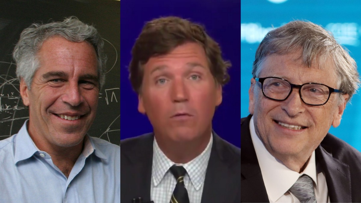 Tucker Carlson Is Firing Up QAnon With Bill Gates and Jeffrey Epstein's Relationship