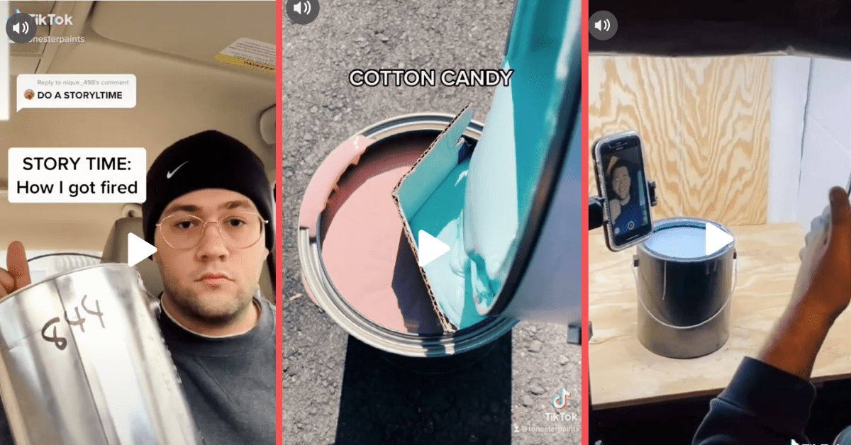That College Student Behind Paint-Mixing TikTok Page Was Fired From Sherwin-Williams, But Got the Last Laugh
