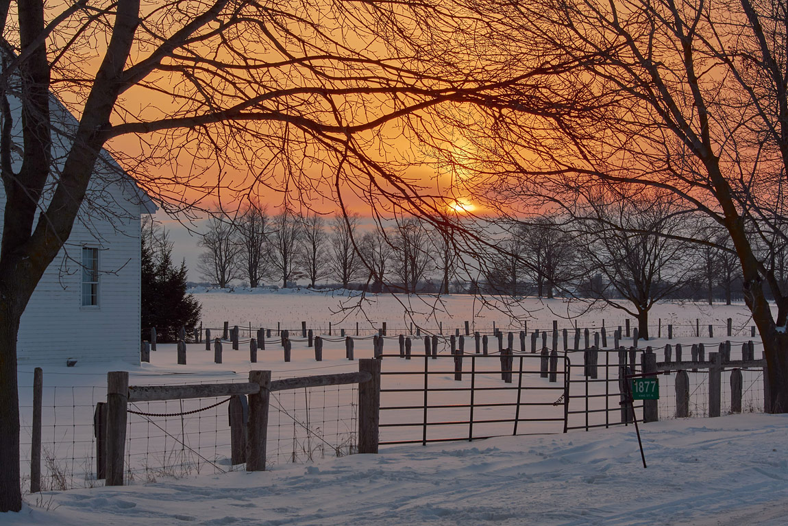 Sunset in Mennonte Country, Hawkesville, ON, Canada