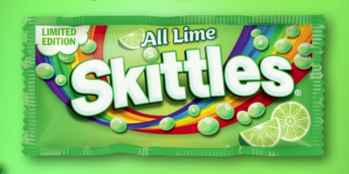 Skittles Just Unveiled a New Pack That Only Consists of the Lime Flavor