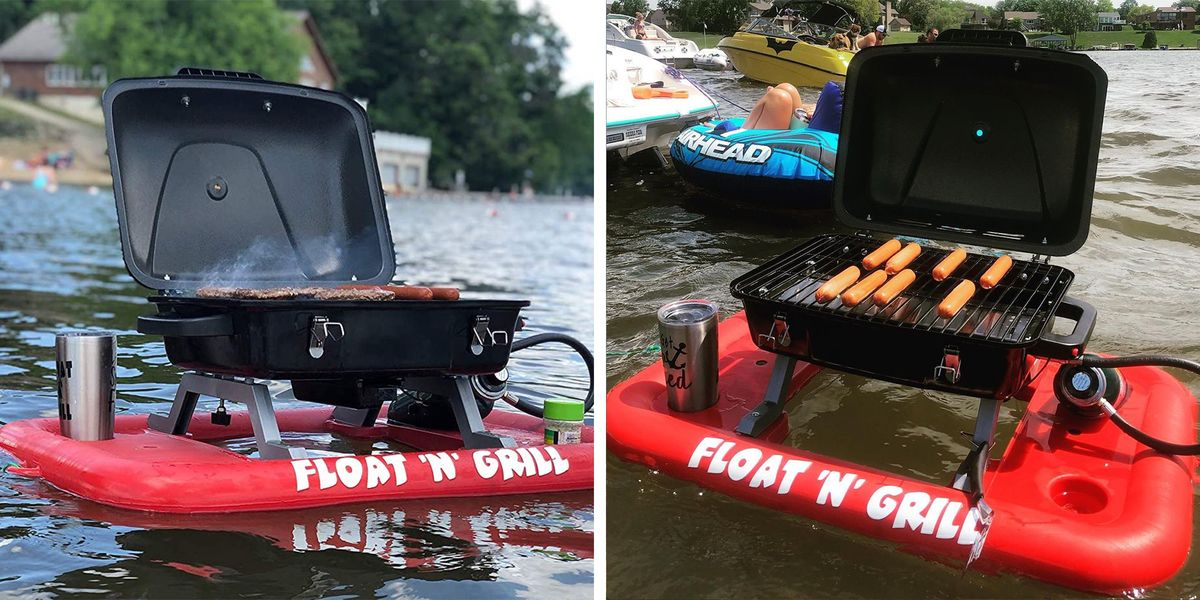 You Can Get This Floating Grill On Amazon To Take Your BBQ On The Water
