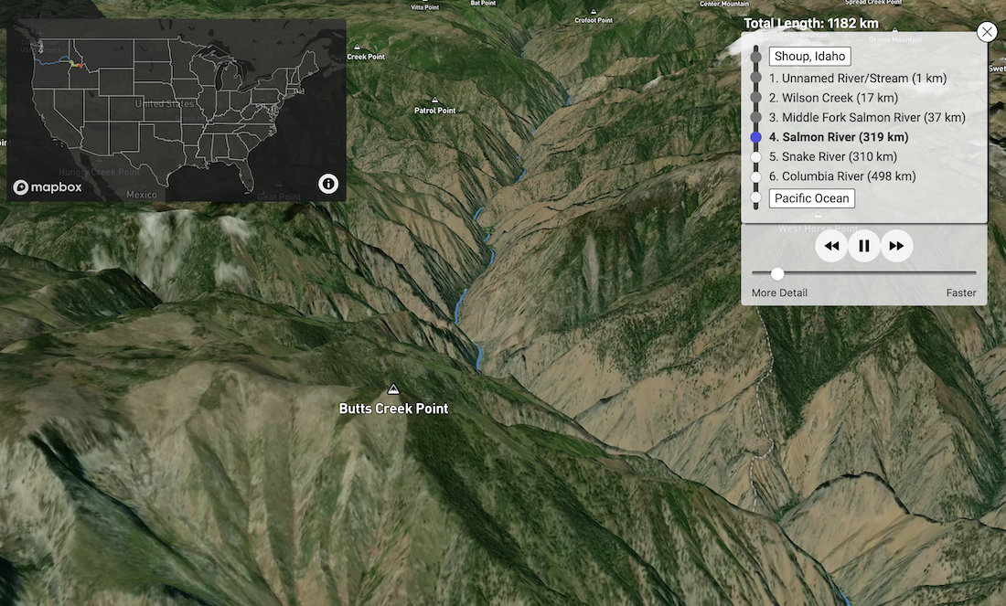 Stunning 3D Map Shows Route of Every Drop of Water in United States