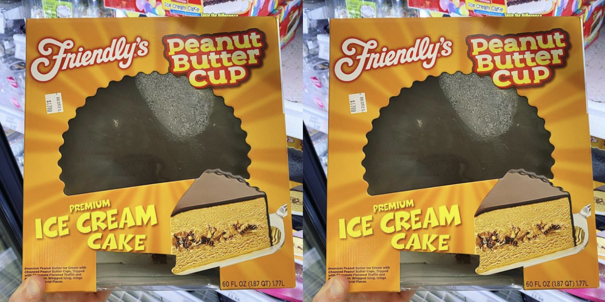Friendly's Has A Peanut Butter Cup Ice Cream Cake Available In Grocery Stores