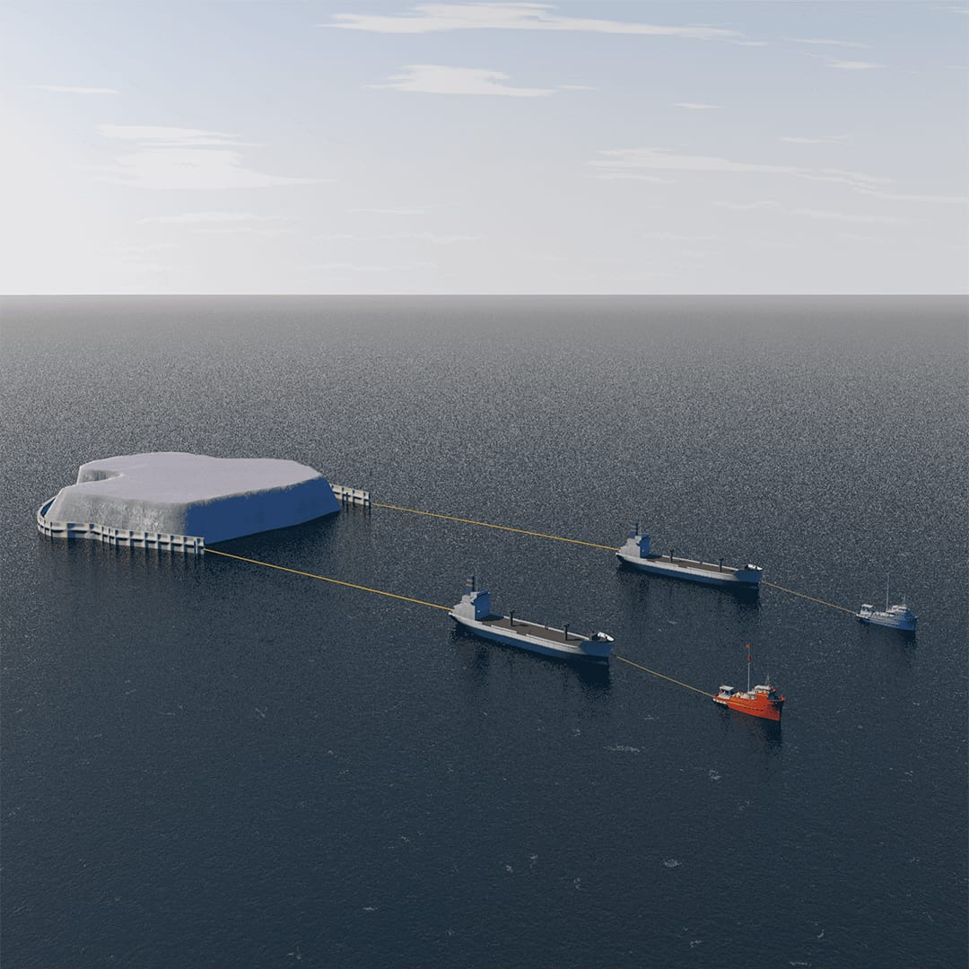 Can icebergs be towed to water-starved cities?