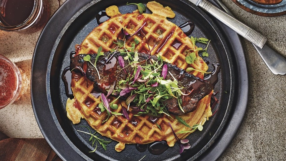 The Best Savory Waffles Start With Collard Greens