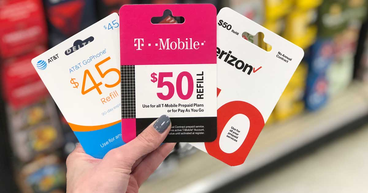 $5 Off Prepaid Mobile Phone Airtime Cards at Target