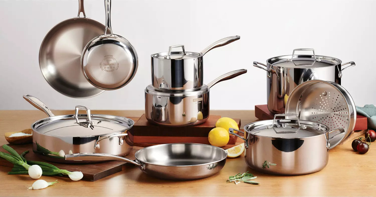 Tramontina 14-Piece Stainless Steel Cookware Set Only $199.98 on SamsClub.com