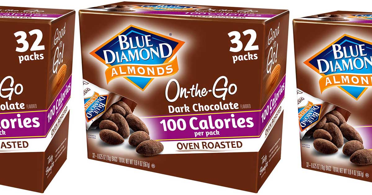 Blue Diamond Almonds 100-Calorie Packs 32-Count Only $9 Shipped on Amazon
