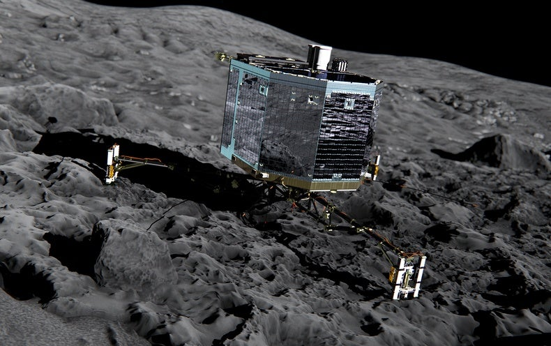 'Like Froth on a Cappuccino': Spacecraft's Chaotic Landing Reveals Comet's Softness