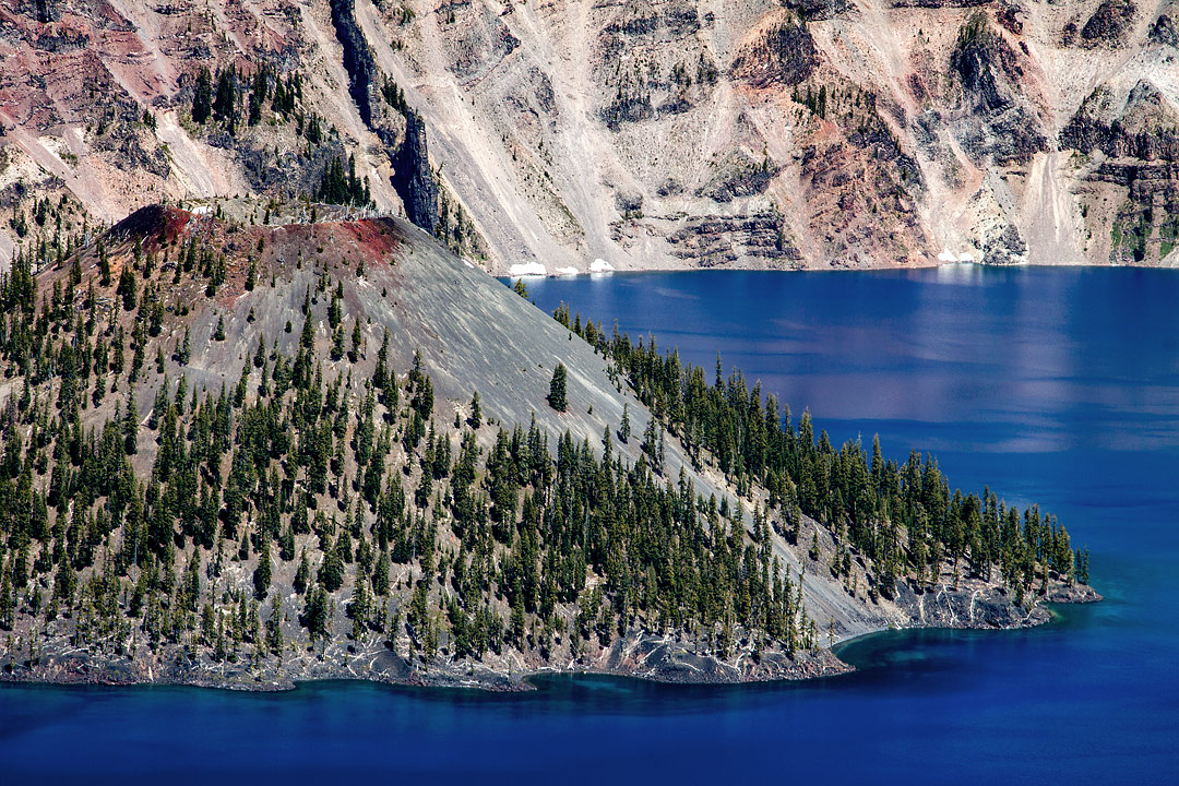 Wizard Island, Crater Lake, Oregon, USA by Roy Goldsberry