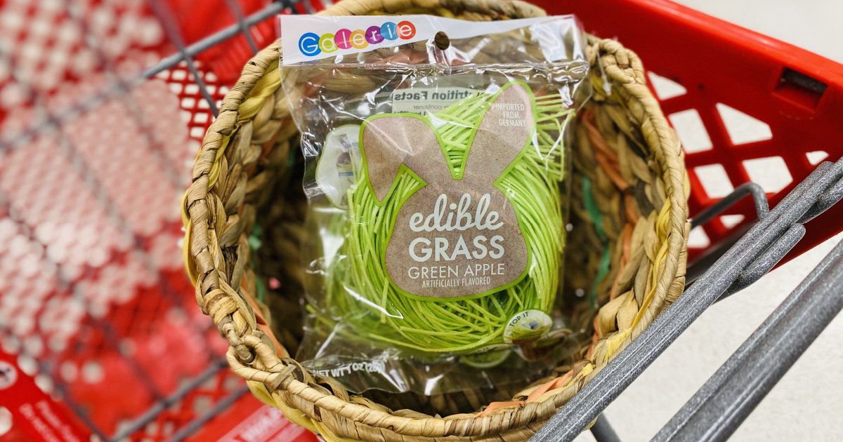 Make Eggs-tra Special Easter Baskets With This Edible Grass From Target