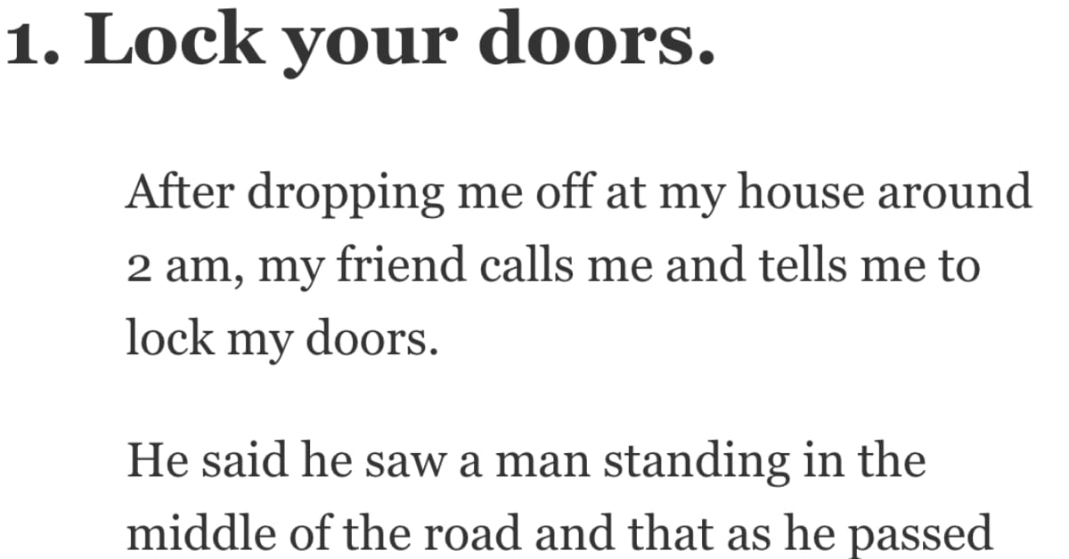 28 People Share the Scariest Moments of Their Lives
