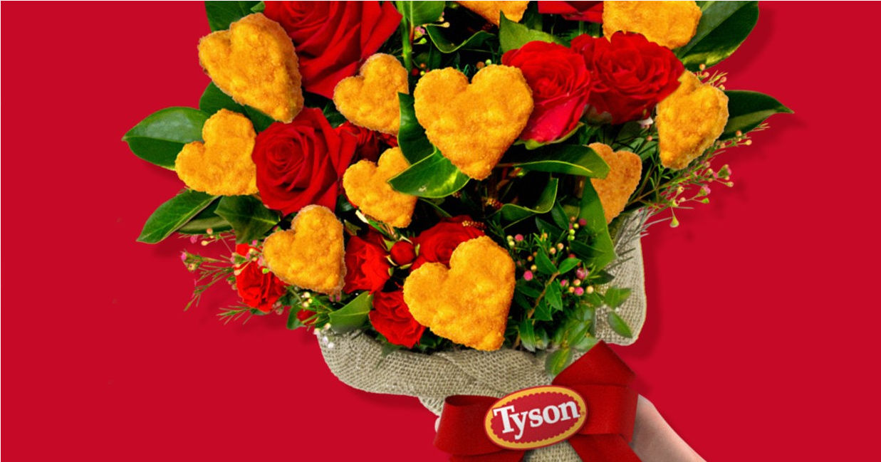 Give Your Valentine a Bouquet of Tyson's Chicken Nuggets + Enter to Win $5000 & Limited Edition Heart-Shaped Nuggets!