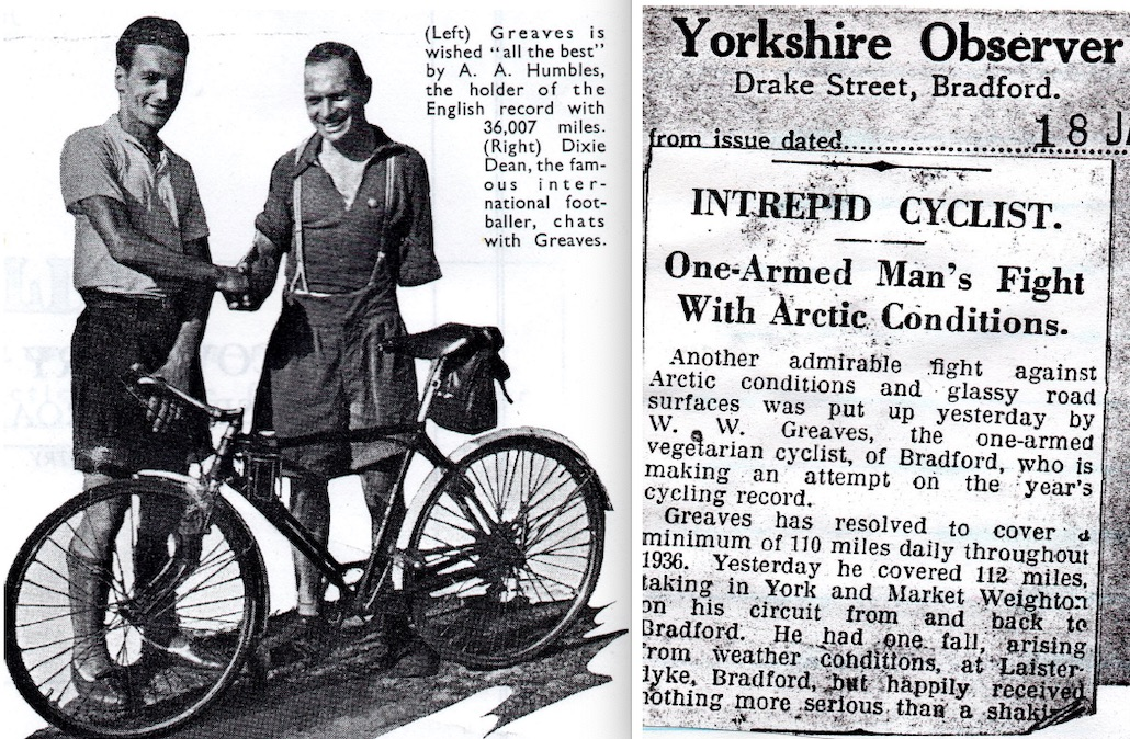 Walter Greaves, the Vegetarian, One-Armed Cyclist, Rode Further Than Anyone