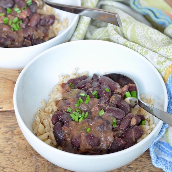 Slow Cooker Red Beans & Rice (with sausage)