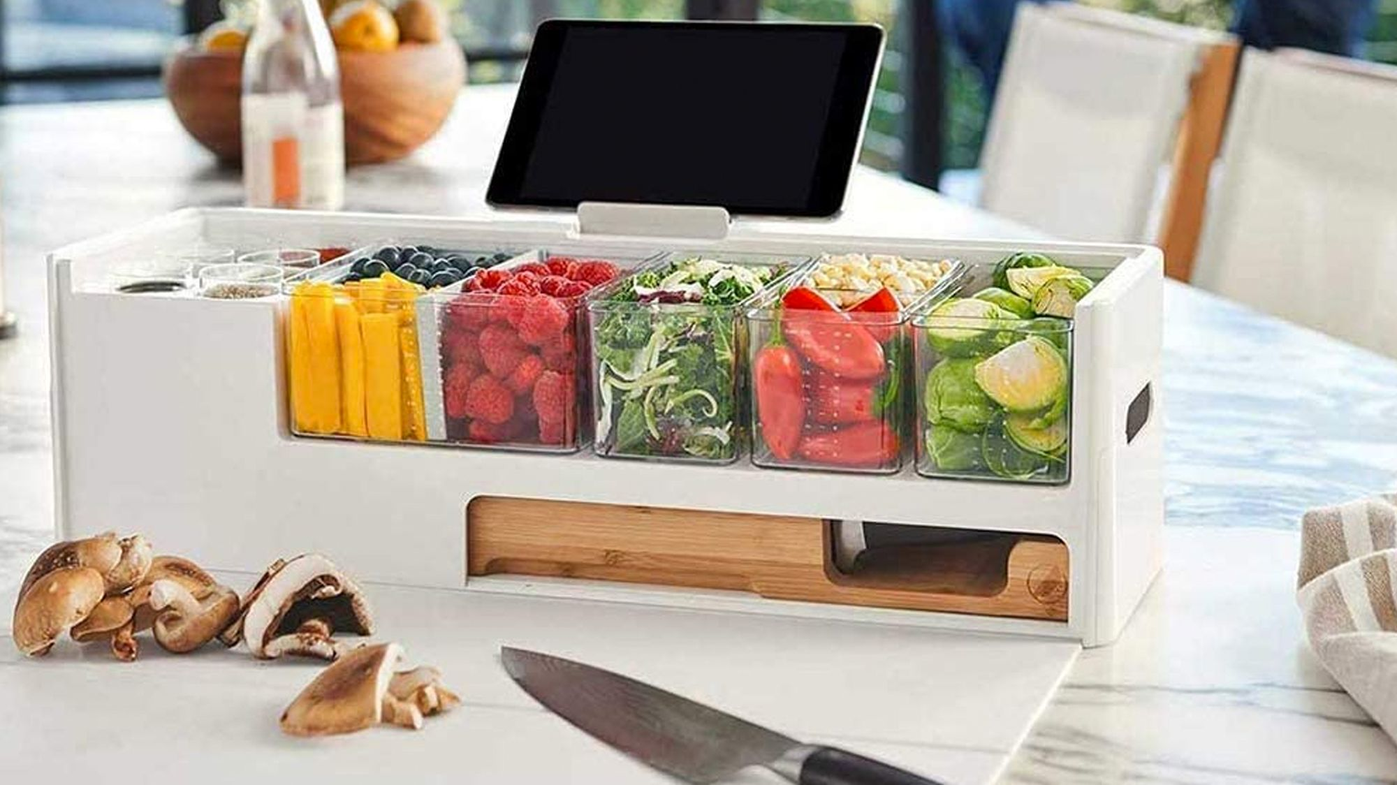 Organize Your Ingredients and Make Cooking Simpler With This Kitchen Prep Helper