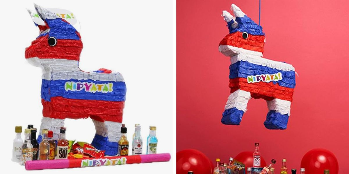 This Red, White, And Blue Piñata Is Filled With Booze For Your 4th Of July Celebration