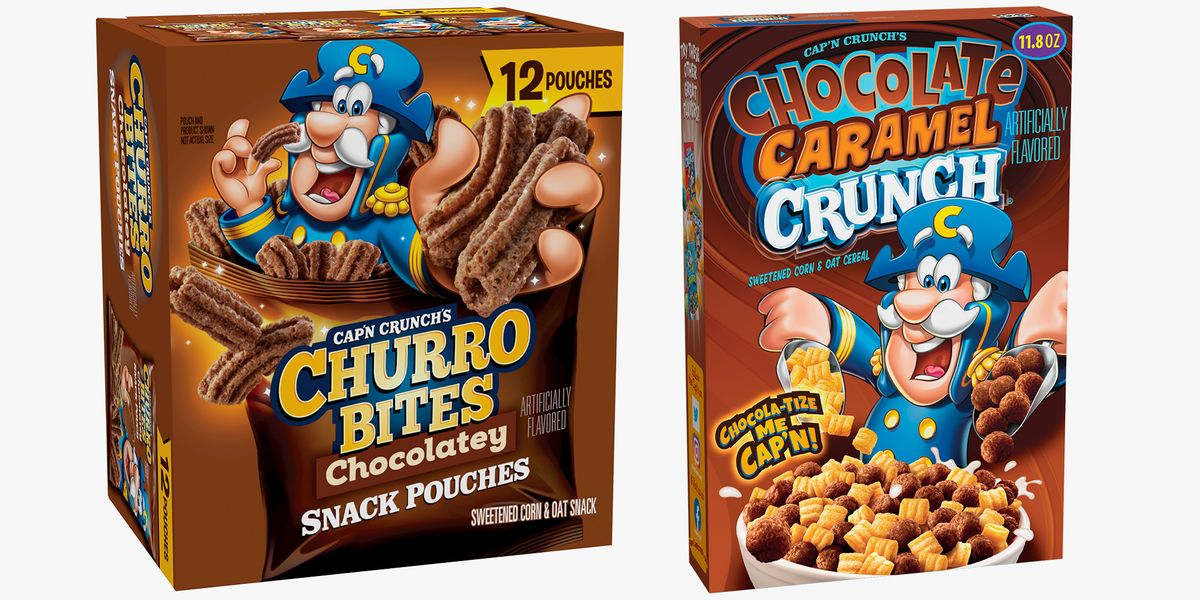 Cap'n Crunch Has New Chocolatey Churro Bites And Chocolate Caramel Crunch Cereal