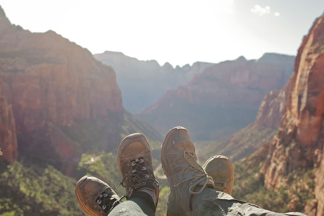 Beautiful Views from Canyon Overlook Trail Zion Hiking Trails