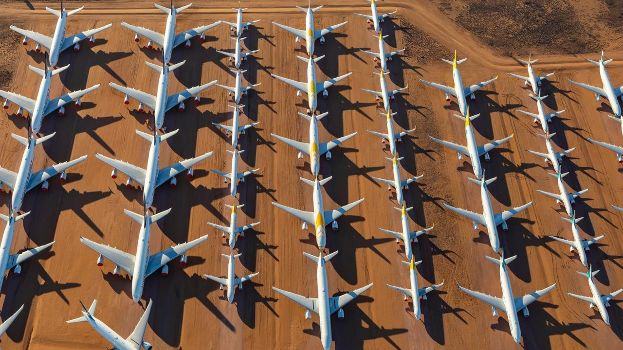 Alice Springs plane 'graveyard' packed with aircraft