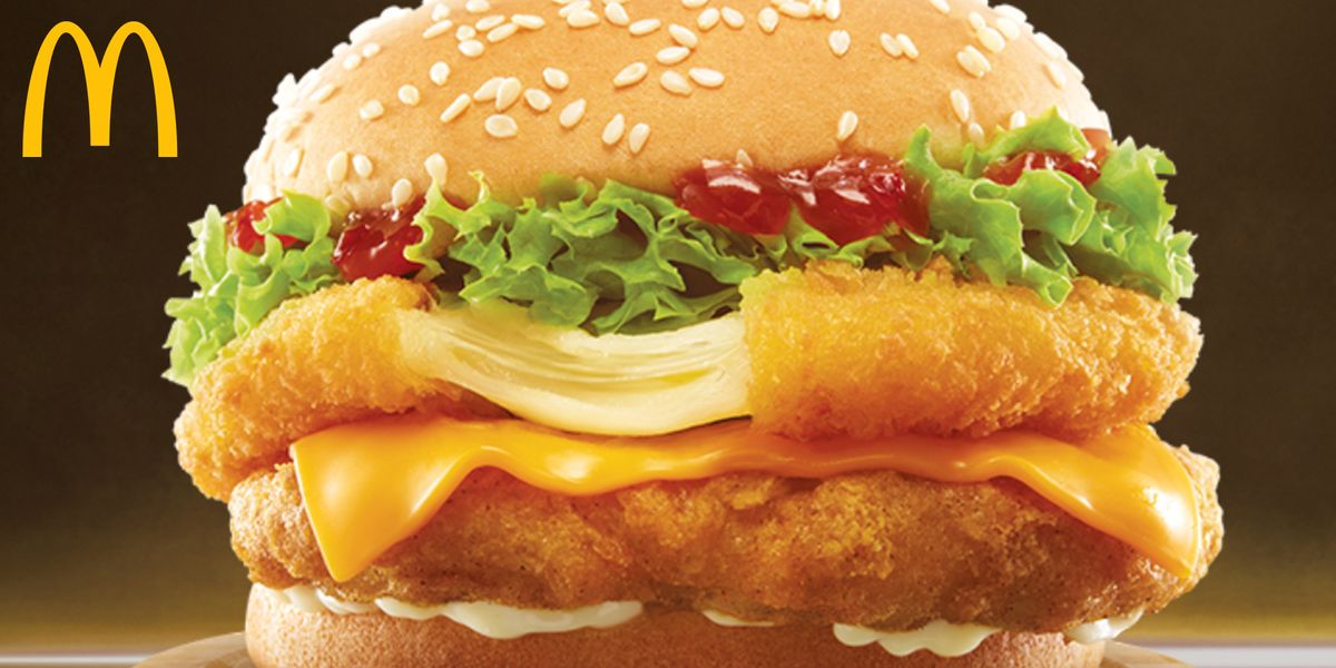 This New Chicken Sandwich From McDonald's Singapore Has a Mozzarella Stick-Inspired Layer