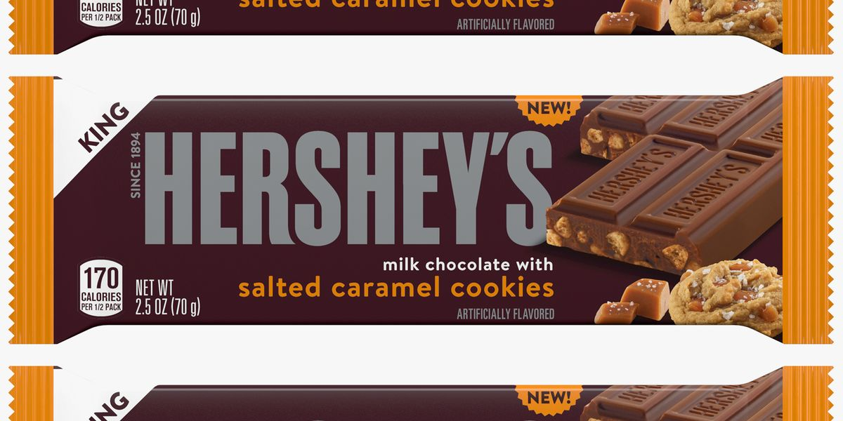 Hershey's New Candy Bar Is Mixed With Salted Caramel Cookie Pieces