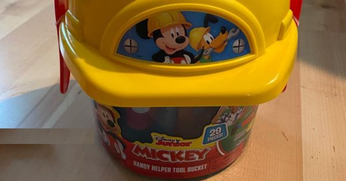 Disney Mickey Mouse 29-Piece Tool Bucket Set Only $3.49 on Target.com